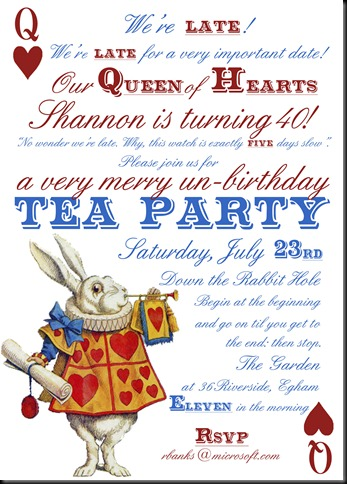Your Invitation to Shannon's 40th